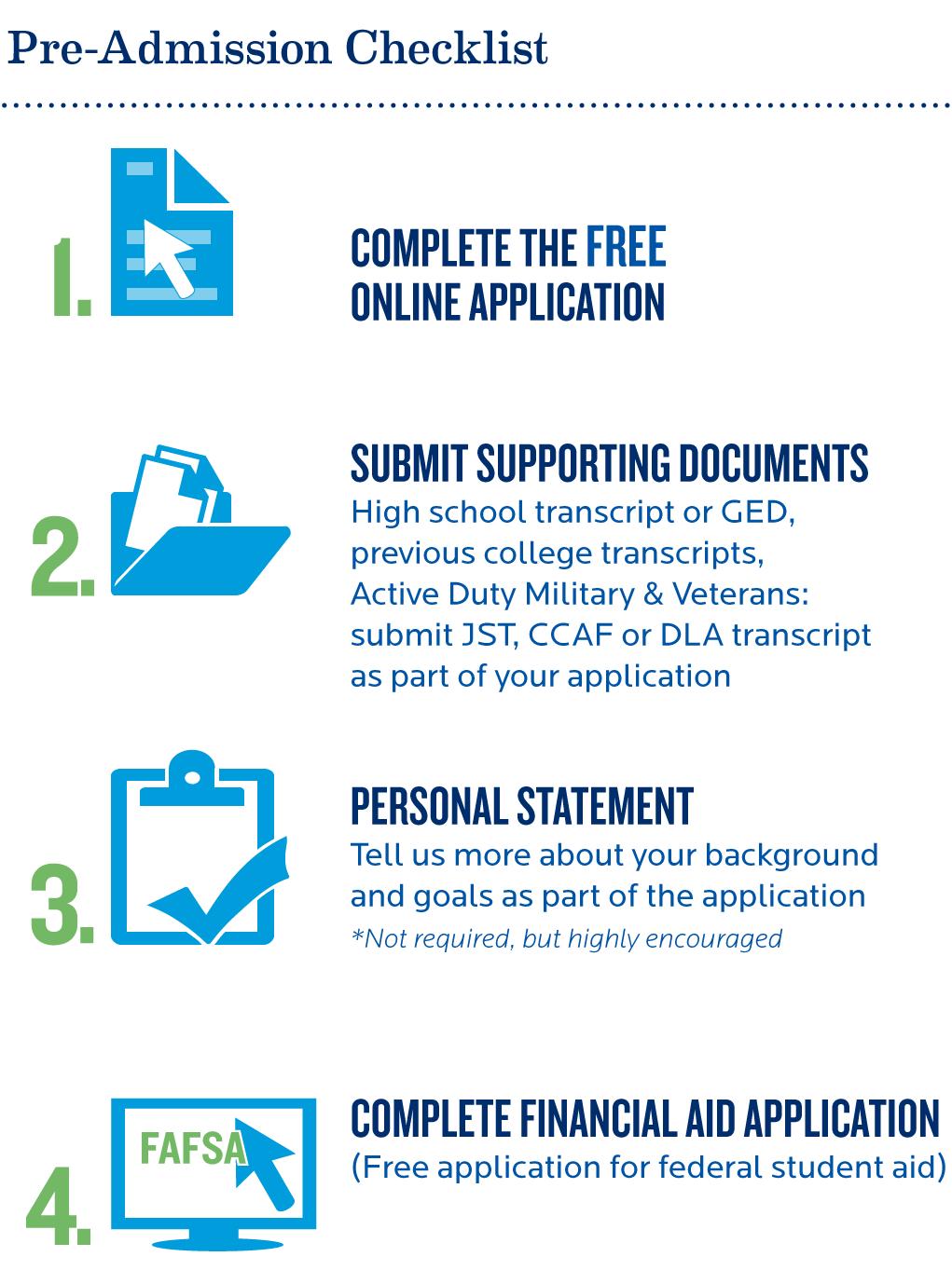 Pre-Admission Checklist