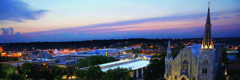 Creighton University Campus at night
