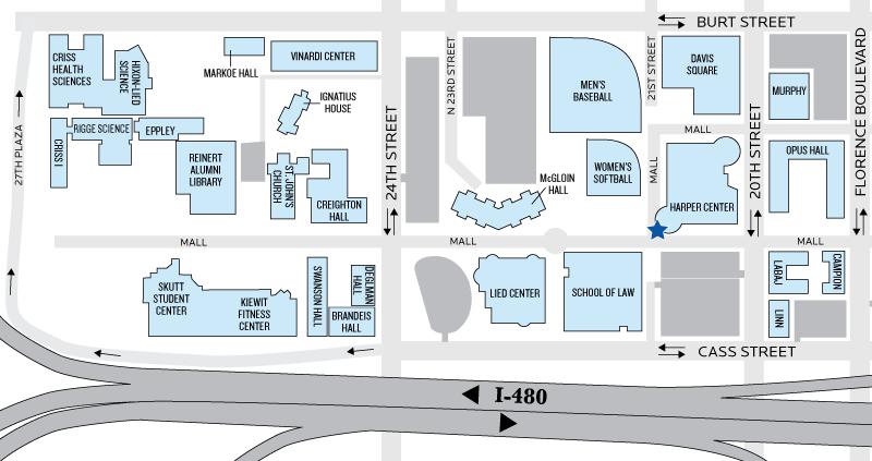 Harper Center Building Map
